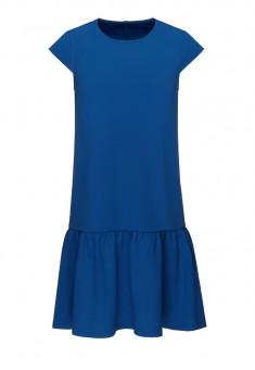 Трикотажное платье цвет синий