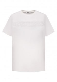 Womens Short Sleeve Lace Jumper white
