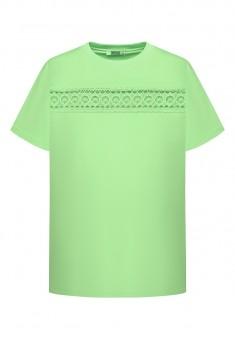 Womens Short Sleeve Lace Jumper light green