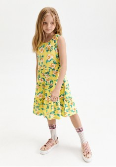 Girls Floral Jersey Dress multicolor
