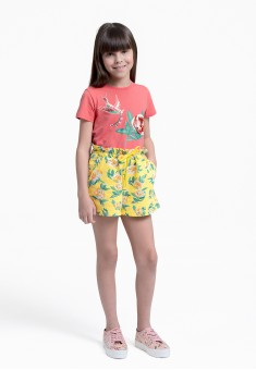 Girls Floral Jersey Shorts multicolor