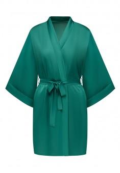 Satin Kimono Robe green