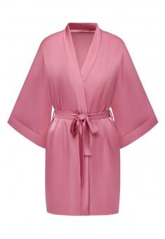 Satin Kimono Robe pink