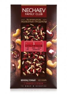 Шоколад темный с вишней и кешью без сахара
