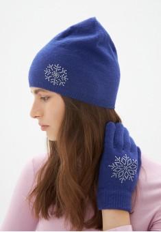 Snowflake Beanie Hat blue