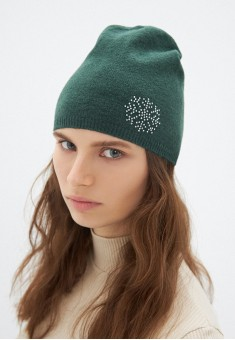 Snowflake Beanie Hat emerald