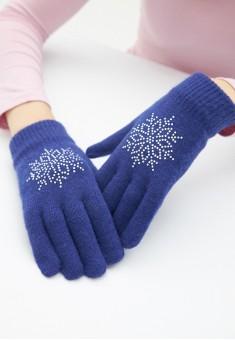 Snowflake Gloves blue