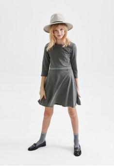 Трикотажное платье с декором для девочки