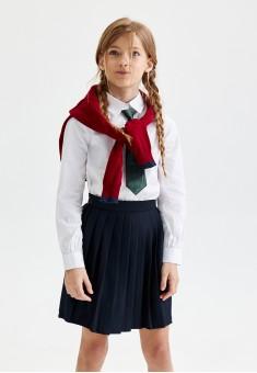 Трикотажная плиссированная юбка для девочки