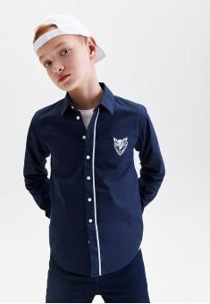 Boys Long Sleeve Shirt dark blue