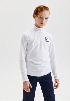 Boys High Neck Jersey Jumper white