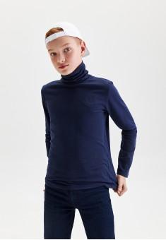 Boys High Neck Jersey Jumper dark blue