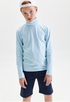 Boys High Neck Jersey Jumper blue
