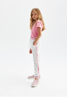 Girls French Terry Trousers with Decorative Trimming
