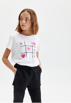 110G3401 трикотажные шорты для девочки цвет черный