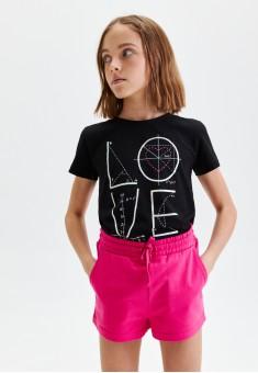 110G3401 трикотажные шорты для девочки цвет фуксия