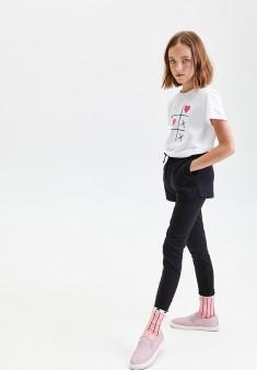Girls Skinny Jersey Trousers black