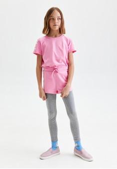 Girls Skinny Jersey Trousers grey melange