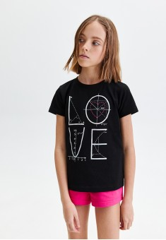 Girls Short Sleeve Tshirt black