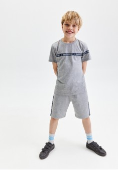 Boys French Terry Shorts with Decorative Trimming