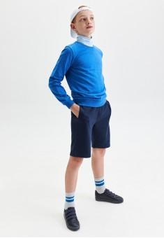 110B3402 трикотажные шорты для мальчика цвет темносиний