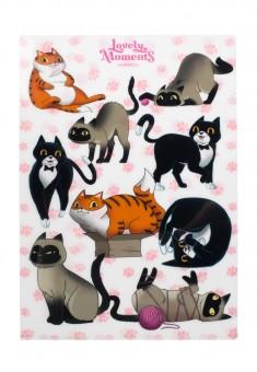 Lovely Momants Funny Cats Paper Folder