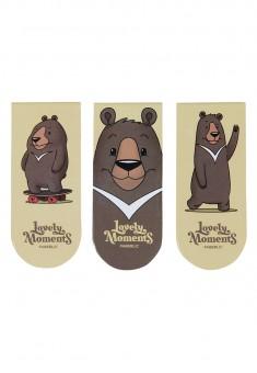 Магнитные закладки Малиновые мишки коллекция Lovely Moments 3 шт