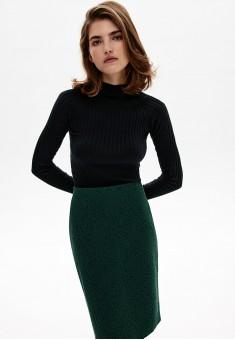 Юбка из жаккарда цвет тёмнозелёный