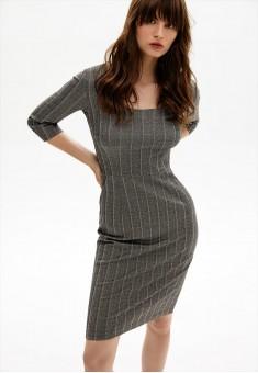 Трикотажное платье цвет серый