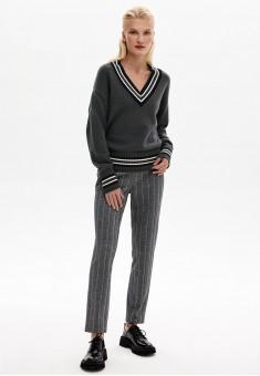 Трикотажные брюки цвет серый