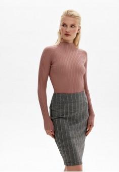 Трикотажная юбка цвет серый