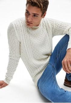 Джемпер для мужчины цвет белый