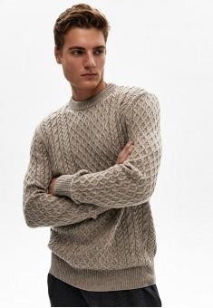 Джемпер для мужчины цвет бежевый меланж