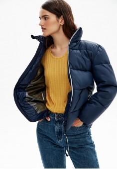 Утепленная куртка цвет темносиний