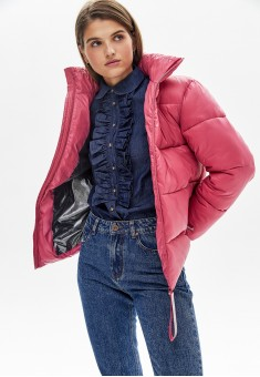 Утепленная куртка цвет темнорозовый