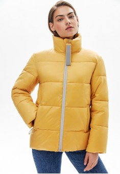 Утепленная куртка цвет светложелтый