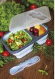Collapsible Food Container 2 compartments