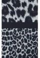 Blūze tumši zilā krāsā ar leoparda raksta apdruku